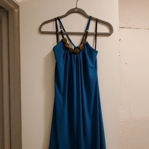 BCX Dresses - Teal Halter Style Dress